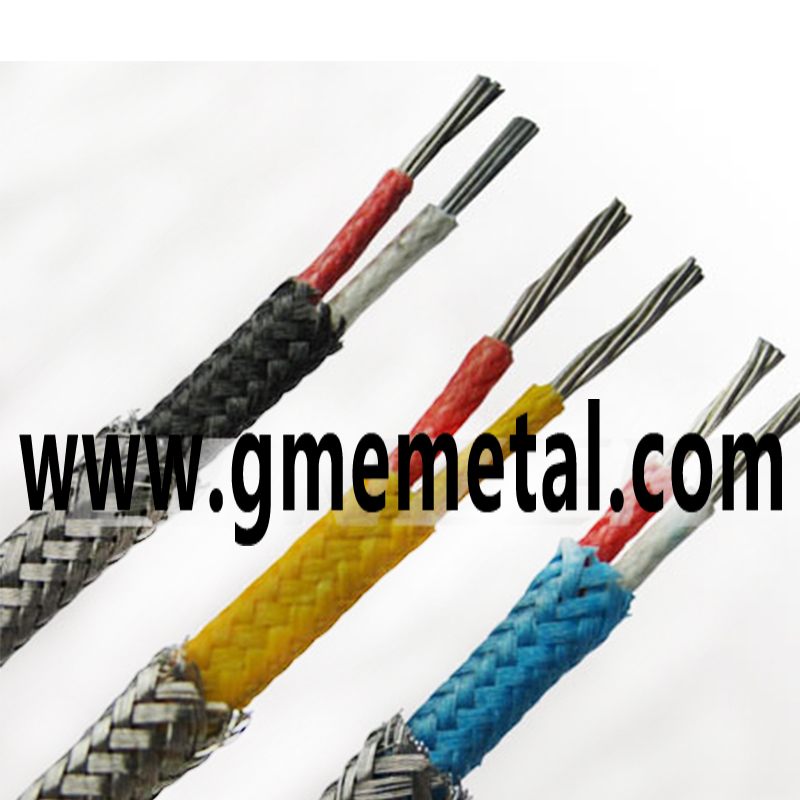 Metal Overbraid Thermocouple Wire Fiberglass Insulated Gme