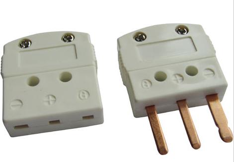 Conector Termopar en miniatura de tipo Cu con Cable en espiral